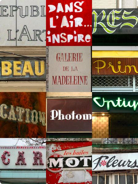 Typographische Impressionen Paris